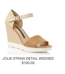 Jolie Straw Detail Wedges