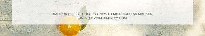 Sale on select colors only.