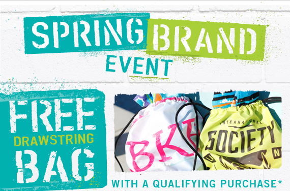 FREE Drawstring Bag with purchase