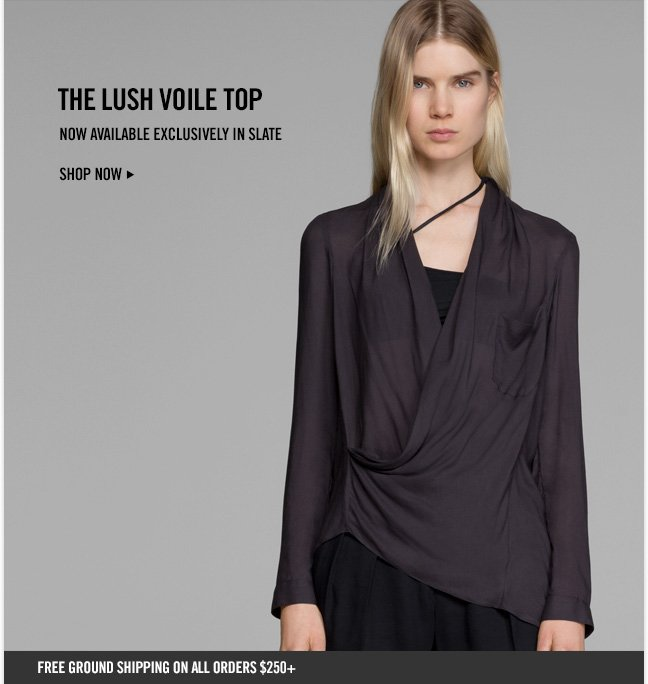 THE LUSH VOILE TOP - Now Available exclusively in Slate - Shop NOW