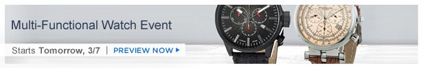 Multi-Functional Watch Event is on HauteLook tomorrow 3/7 | Preview Now