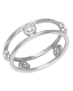 Tiffany & Co. Platinum Double Band Diamond Ring $1,199