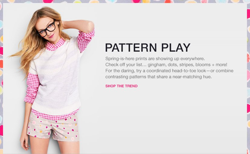 PATTERN PLAY | SHOP THE TREND