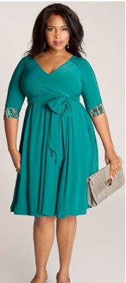 Jaqueline 2-in-1 Dress in Jade by IGIGI
