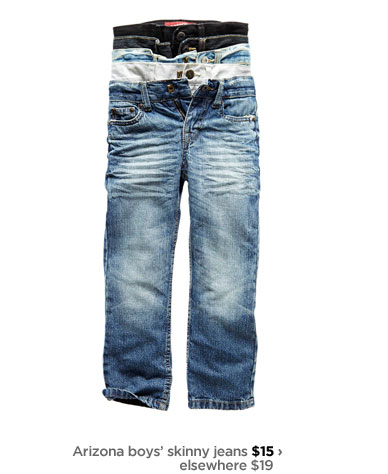 Arizona boys' skinny jeans $15 › elsewhere $19