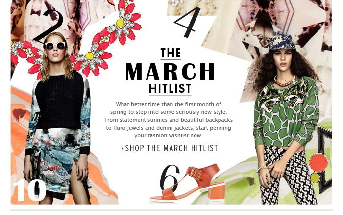 THE MARCH HITLIST - Shop the March Hitlist