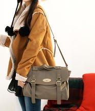 Twist-Lock Faux Leather Shoulder bag