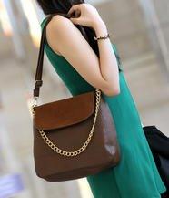 Set: Double-Strap Shoulder Bag + Zip Pouch