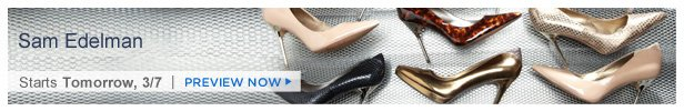 Sam Edelman is on HauteLook tomorrow 3/7 | Preview Now