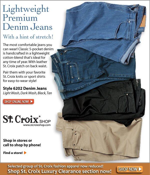 Lightweight Premium Denim Jeans with Stretch - Style 6202