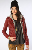 <b>Obey</b><br />The Jealous Lover Jacket in Burgundy