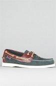 <b>Sebago</b><br />The Spinnaker Boat Shoe in Blue & Brown