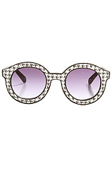 The Glomesh Sunglasses in Sparkly Houndstooth