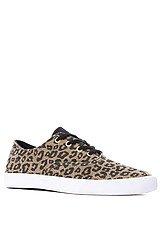 The Wrap Sneaker in Cheetah Print Canvas