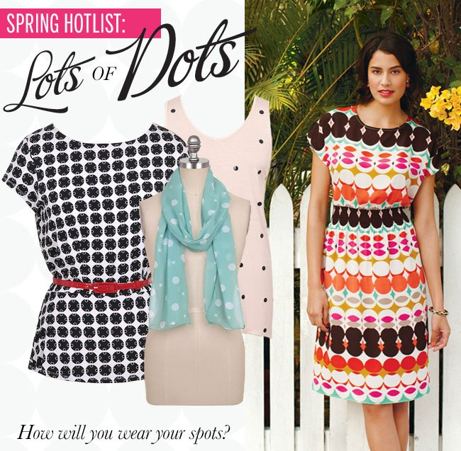 SPRING HOTLIST: Lots of Dots! How will you wear your spots?