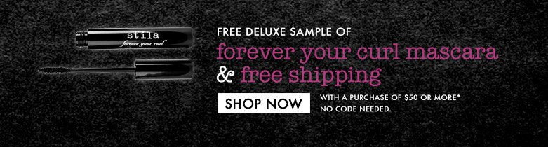 freedeluxe sample of forever your curlmascara and free shipping -- withpurchase of $50 or more -- no codeneeded