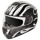 Hawk GLD-807 Infernal Series Glossy White/Black Full Face Helmet