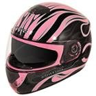 Hawk GLD-805 Infernal Series Glossy Black/Pink Full Face Helmet
