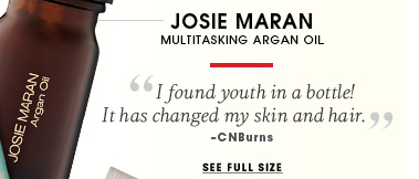 Josie Maran. Multitasking argan oil. I found youth in a bottle! It has changed my skin and hair. - CNBurns. See full size