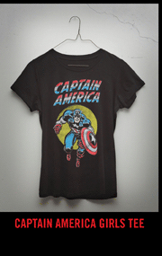 CAPTAIN AMERICA GIRLS TEE