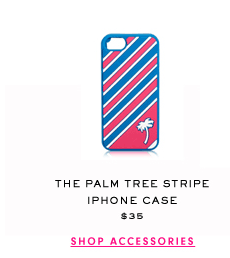The Palm Tree Stripe iPhone Case $35 - SHOP ACCESSORIES