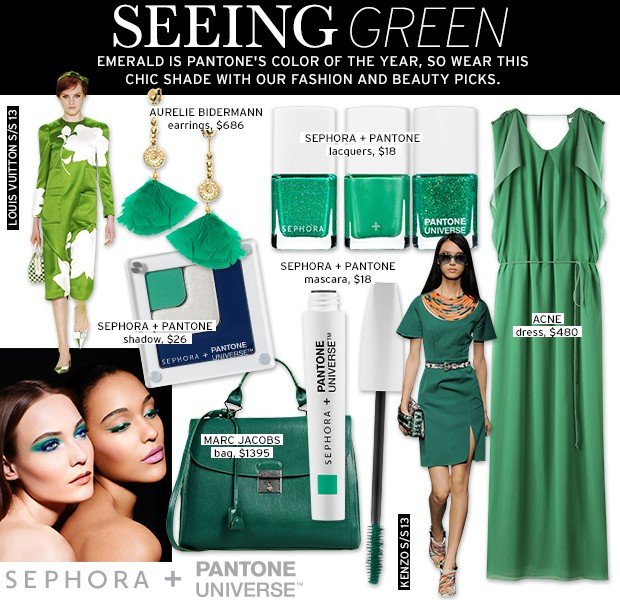 Seeing Green With Sephora & Pantone's 2013 Color Of The Year