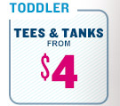 TODDLER | TEES & TANKS FROM $4