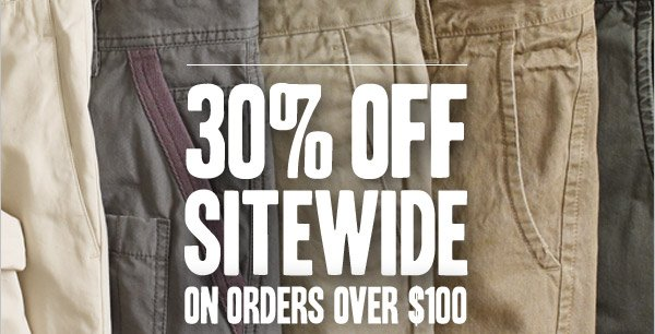 30% OFF SITEWIDE ON ORDERS OVER $100