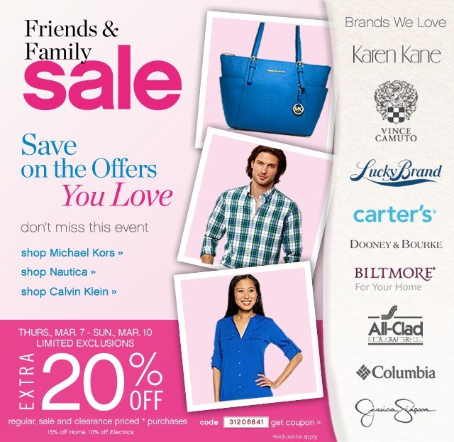 Friends and Family Sale. Don't miss this event. Shop now.