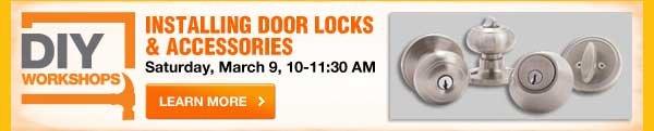 DIY Workshops - Installing door locks & accessories