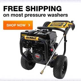 FREE shipping on most pressure washers