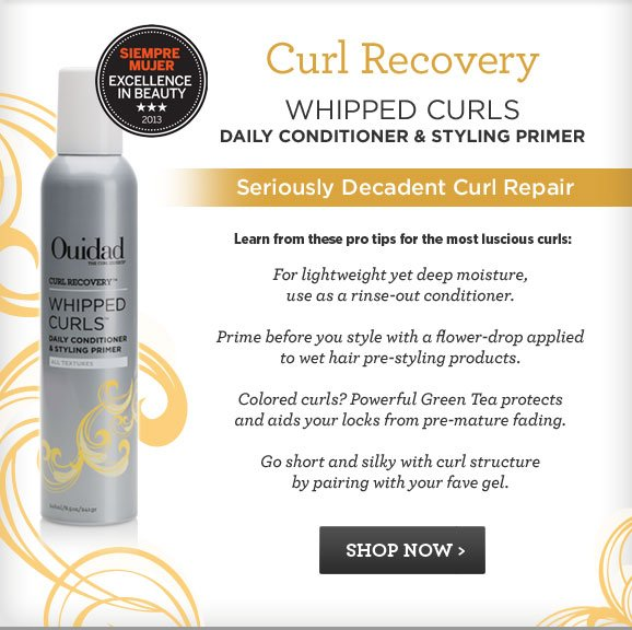 Curl Recovery Whipped Curls Daily Conditioner and Styling Primer. Seriously Decadent Curl Repair. SHOP NOW