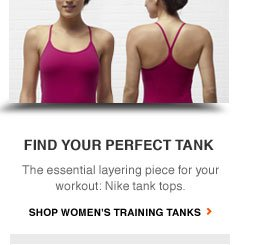 FIND YOUR PERFECT TANK | The essential layering piece for your workout. Nike tank tops. | SHOP WOMEN'S TRAINING TANKS
