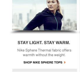 STAY LIGHT. STAY WARM. | Nike Sphere Thermal fabric offers warmth without the weight. | SHOP NIKE SPHERE TOPS