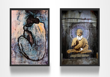 Shop Canvas Prints ft. Banksy-Style Art