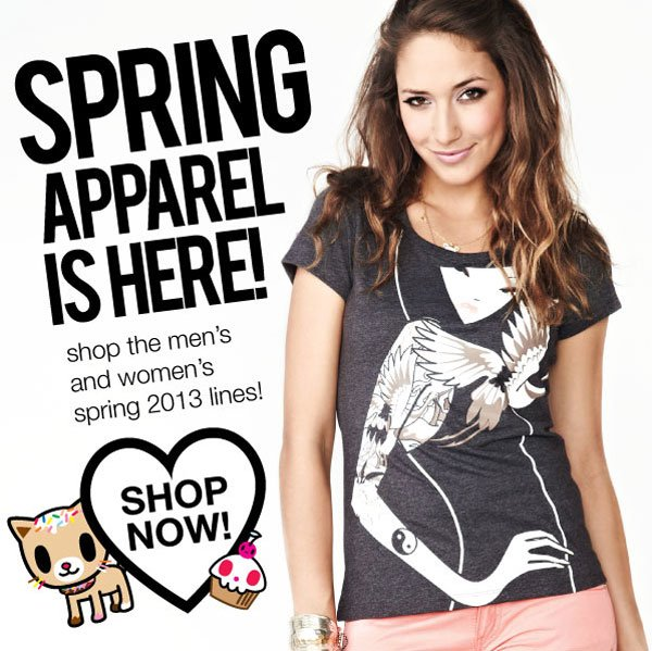 Brand new in our store, Spring 2013 Apparel!