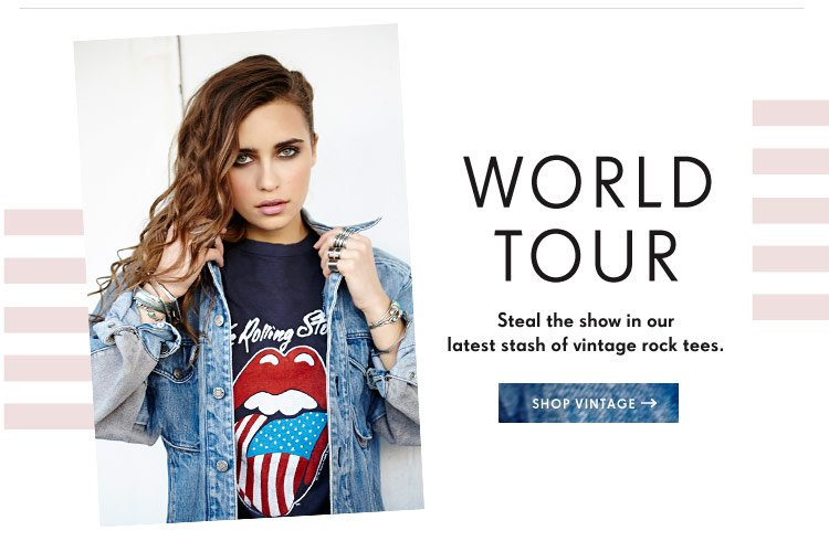 Steal the show in our latest stash of vintage rock tees