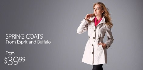 Spring coats from Esprit and Buffalo