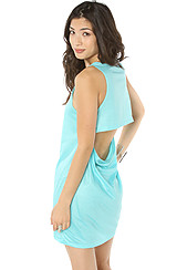 The Bailey Slit Dress in Riviera Turquoise