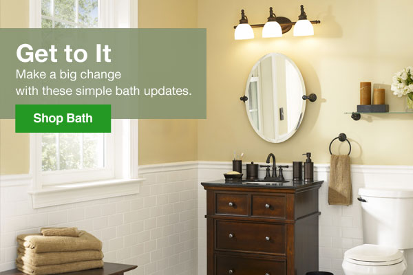 Get to it. Make a big change with these simple bath updates