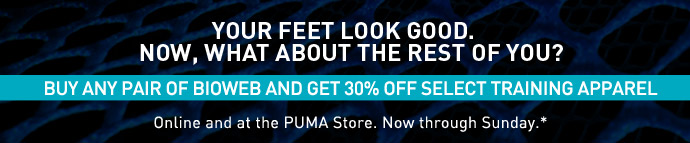 BUY ANY PAIR OF BIOWEB AND GET 30% OFF SELECT TRAINING APPAREL*
