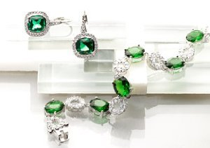 CZ by Kenneth Jay Lane: The Emerald Collection