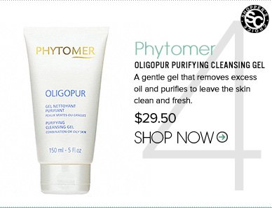 "Shopper's Choice Phytomer - Oligopur Purifying Cleansing Gel  A gentle gel that removes excess oil and purifies to leave the skin clean and fresh. ""My face felt so clean and soft after using this product. It helps get rid of excess oil without stripping the skin of moisture. Amazing product!"" $29.50 Shop Now>>"
