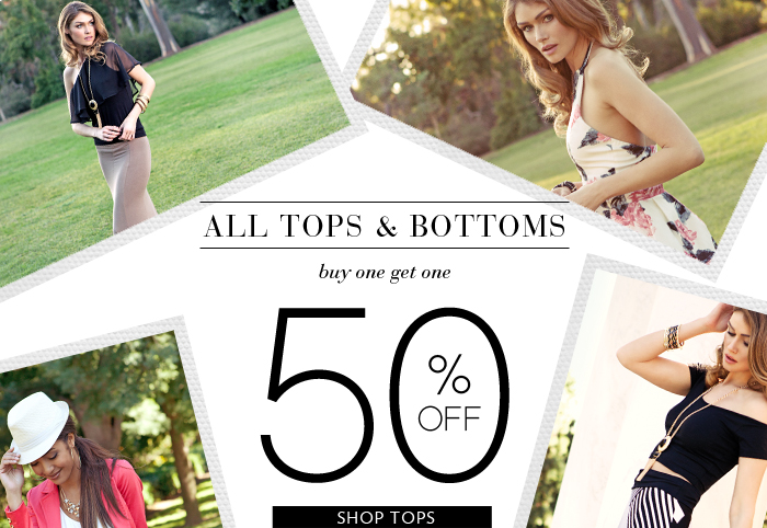 Shop Buy one Get one 50% OFF Tops & Bottoms