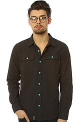 The Building Futures Buttondown in Black Heather