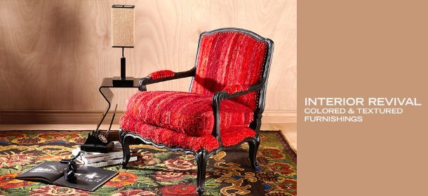 INTERIOR REVIVAL: COLORED & TEXTURED FURNISHINGS, Event Ends March 12, 9:00 AM PT >