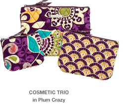 Cosmetic Trio in Plum Crazy