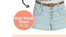 5 Button High Waist Short