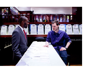 White Shirt Bar Customer