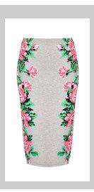 Pixel Flower Tube Skirt